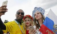Fifa World Cup 2018: South American football fever grips Moscow