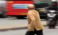 Video: Shehbaz Sharif goes viral for crossing London street with hastened speed
