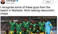 UK TV star Sugar accused of racism over World Cup tweet