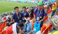 FIFA World Cup 2018: Japan fans clean up stadium after rousing win against Columbia