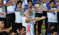 Over 50,000 join Modi for world yoga celebration