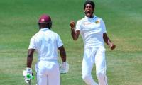 Windies bat in first day-night Test in Caribbean