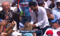 'She said yes!': Marriage proposal steals limelight amid England vs India ODI