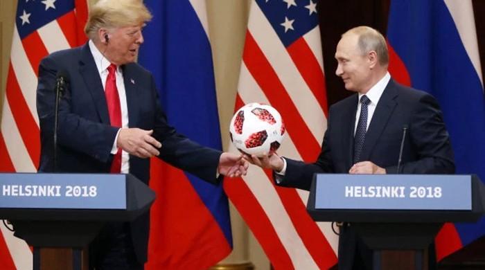 Putin gave Donald Trump Pakistan-made football