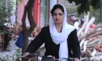 ANP's female candidate rides bike to sway Multan voters