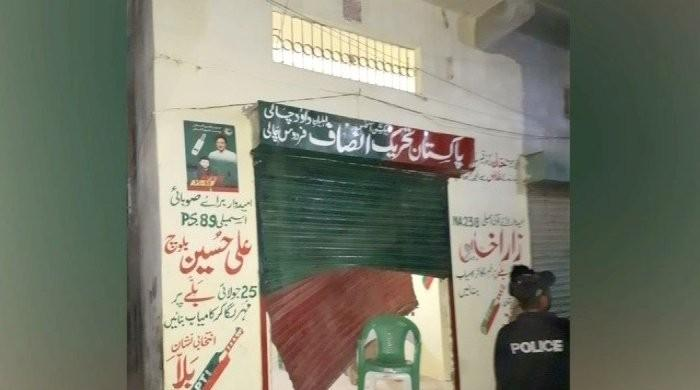 PTI worker injured as 'PPP activist' opens fire at election office in Karachi
