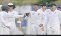 South Africa bounce back with Maharaj´s eight-for