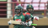 Tamim and Shakib push Bangladesh to respectable total