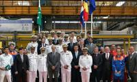Steel cutting ceremony of offshore patrol vessel for Pakistan navy held in Romania