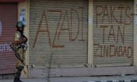 Kashmiris observe India's Independence Day as 'Black Day'