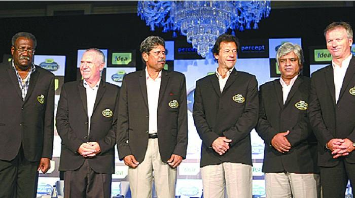 Australia's Allan Border felicitates Imran Khan over polls victory
