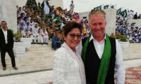 Former Swiss CG, wife celebrate Pakistan's Independence Day in Karachi