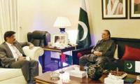 Asif Zardari felicitates CM-elect Murad Ali Shah
