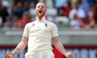 Stokes bowls against India at Trent Bridge