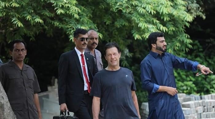 Pictures: Prime Minister Khan works out