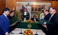 Murad inducts four more ministers in his cabinet