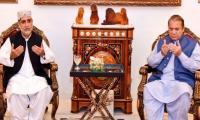 Akhtar Mengal meets Nawaz Sharif, condoles death of Kulsoom Nawaz