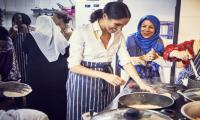 Britain´s Meghan launches Grenfell cookbook