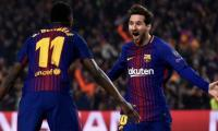 Messi scores hat-trick as Barcelona thrash PSV