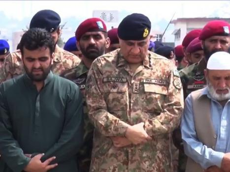 COAS attends funeral prayer of Shaheed soldiers