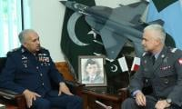 Polish air chief visits PAF headquarters