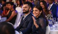 Anushka Sharma cheers on as Virat receives India's highest sports' award