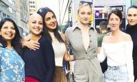 Sonali Bendre poses on the streets with Sophie Turner, Priyanka Chopra