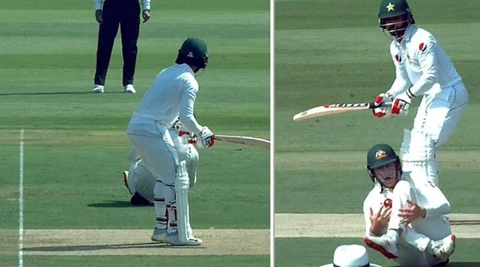 Watch the 'most dramatic catch': Mohammad Hafeez out