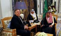 Pompeo holds talks with Saudi king on missing journalist Jamal Khashoggi