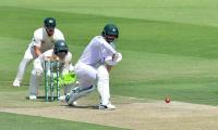 Fakhar becomes 4th Pakistani to score 50s in each innings of debut Test