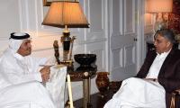 Qatari FM calls on COAS, discusses regional security