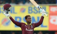 West Indies amass 322-8 in 1st ODI against India