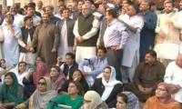 PML-N lawmakers protest Punjab Assembly ban