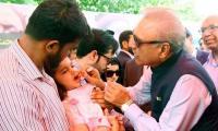 President Alvi urges Pakistan to rise and end polio