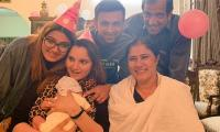 Sania Mirza celebrates 32nd birthday with newly born son Izhaan, Malik