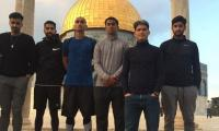 Pakistani football team visits Al Aqsa mosque