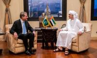 FM Qureshi meets UAE counterpart, discusses regional issues