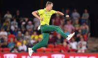 South Africa down Australia in rain-hit T20