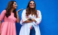 Sania Mirza showers new mom Neha Dhupia with kisses on baby girl's birth