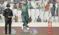 Bangladesh restrict Windies to 195-9 in first ODI
