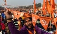 Tens of thousands gather in Delhi in push for Ram temple
