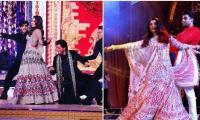 Shah Rukh Khan, Gauri, Bachchans perform at Isha Ambani's Sangeet party