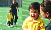Taimur Ali Khan wins gold medal on sports day, breaks into tears while cheerleading