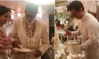 Amitabh Bachchan, Aamir Khan serve food at Isha Ambani's wedding
