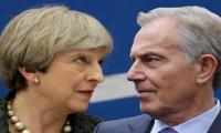 Britain´s May clashes with Blair over Brexit