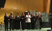 Asma Jahangir wins prestigious UN Prize: Munizae receives award on mother's behalf