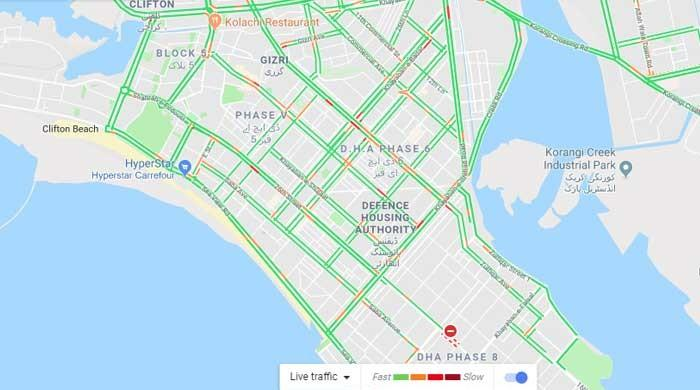 Google Map Live Traffic Updates For New Year S Eve In Karachi