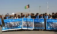 Afghanistan protesters march for peace