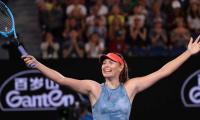 Maria Sharapova's boyfriend ecstatic after she defeats defending champion Wozniacki