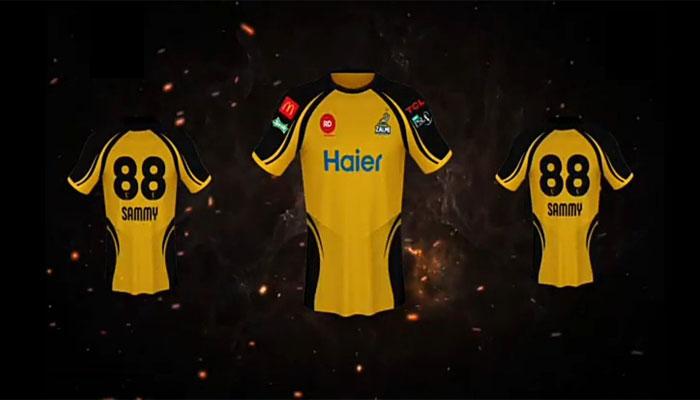 Darren Sammy launches official kit of Peshawar Zalmi for PSL 4